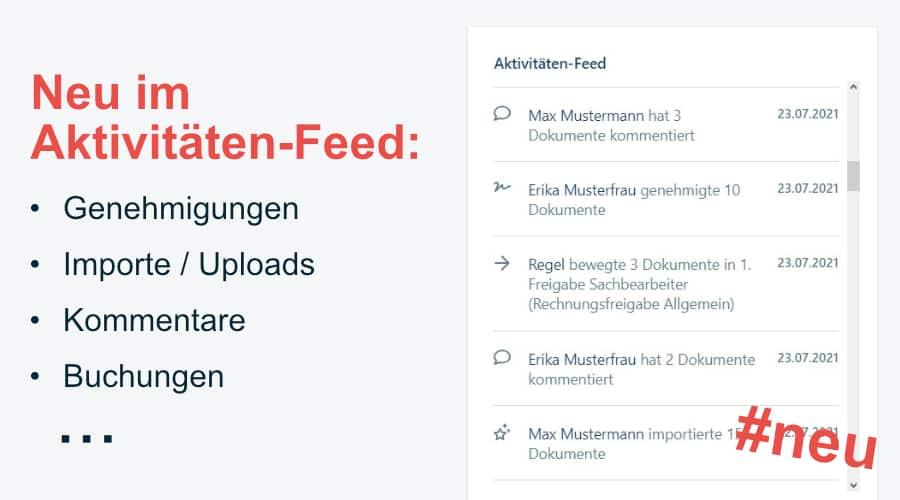 Screenshot des Aktivitäten Feeds in domonda