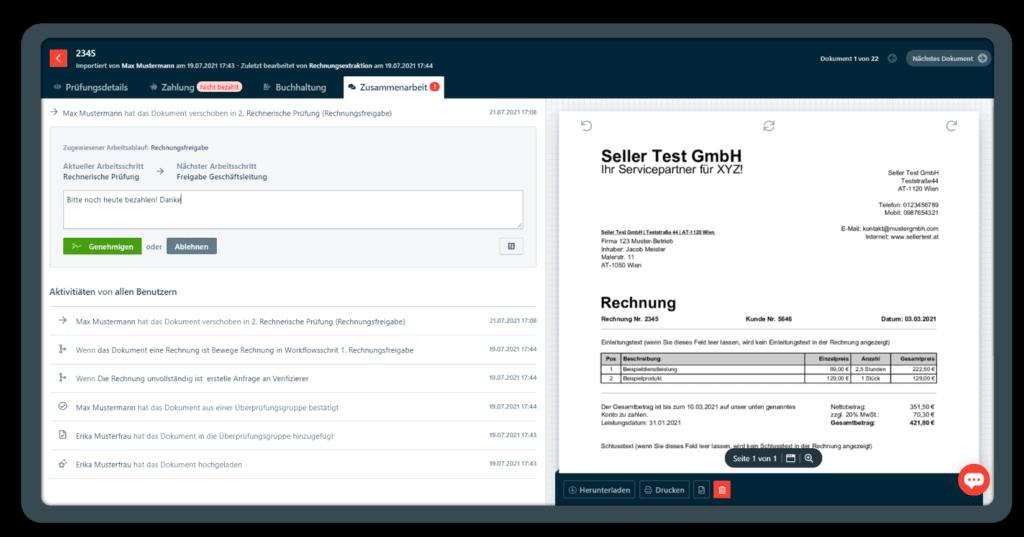 Online Rechnungsfreigabe in der domonda App inkl. Verfahrensdokumentation